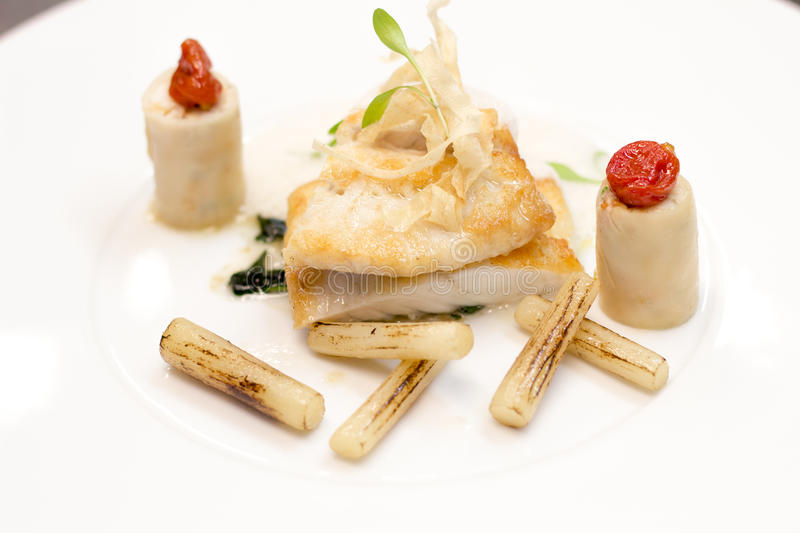 Panfried Turbot royalty free stock images