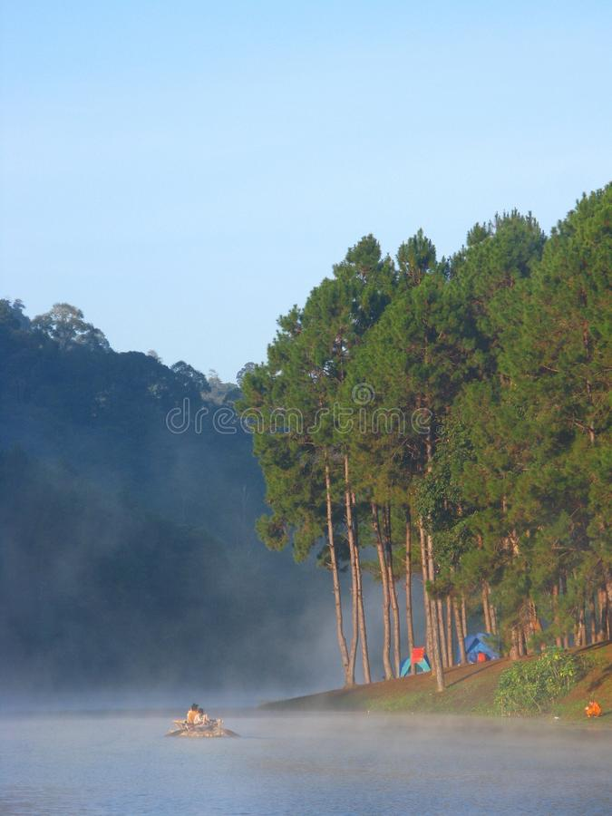 Pang Oung Lake, Mae Hong Son Province, Thailand stock foto's