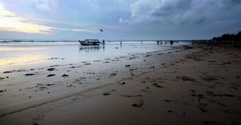 Pangandaran strand arkivbild