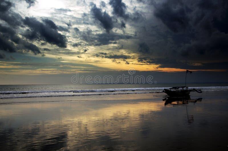 Pangandaran strand arkivfoton