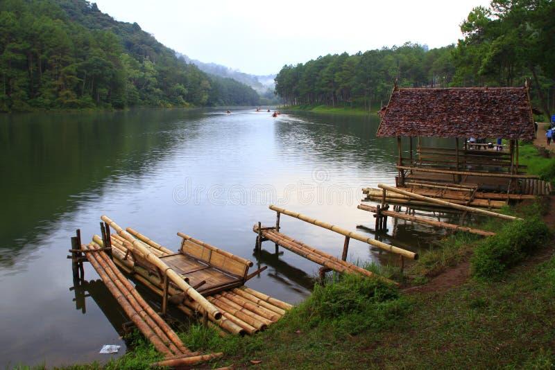 PangAung Tailandia del Nord Lakeview fotografia stock libera da diritti