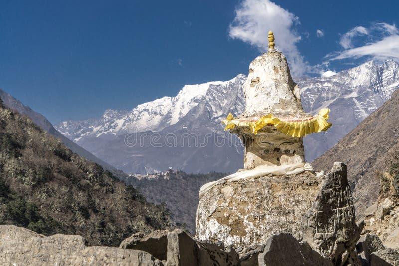 Pangboche zu Namche-Basar, Nepal lizenzfreies stockfoto