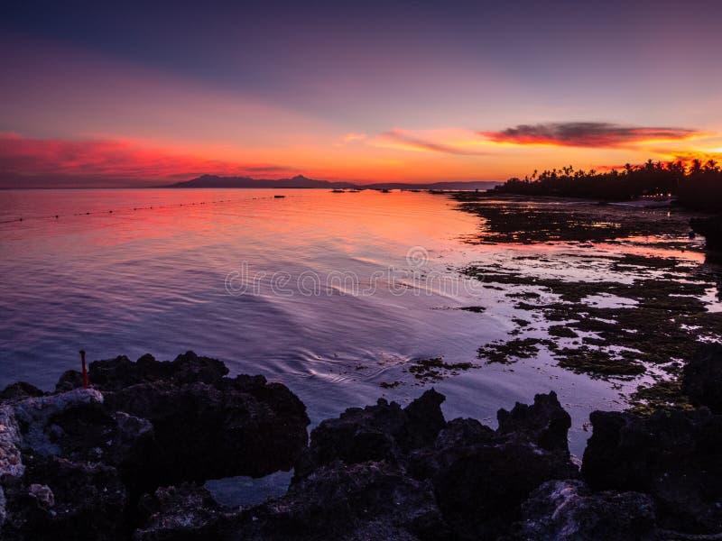 Panglao, praia de Bohol imagem de stock
