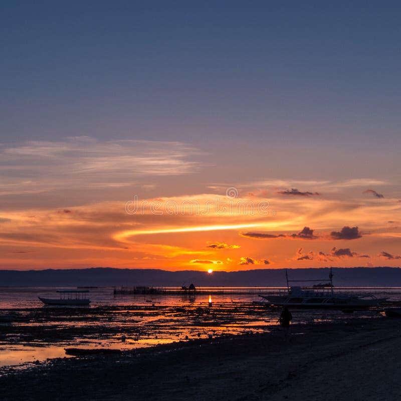 Panglao, praia de Bohol foto de stock