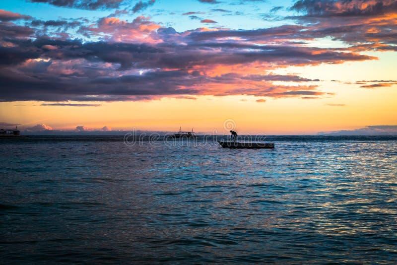 Panglao - tramonto fotografie stock libere da diritti
