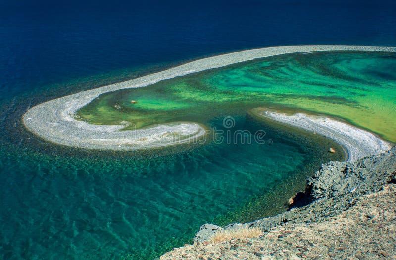 Pangong湖,拉达克,印度 库存照片