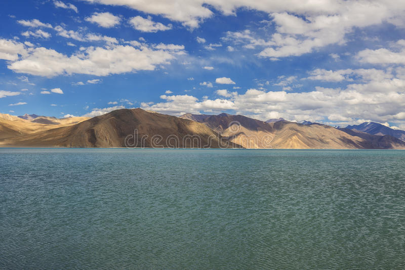 Pangong湖 库存图片