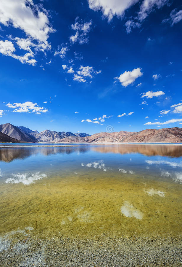 Pangong湖 免版税图库摄影