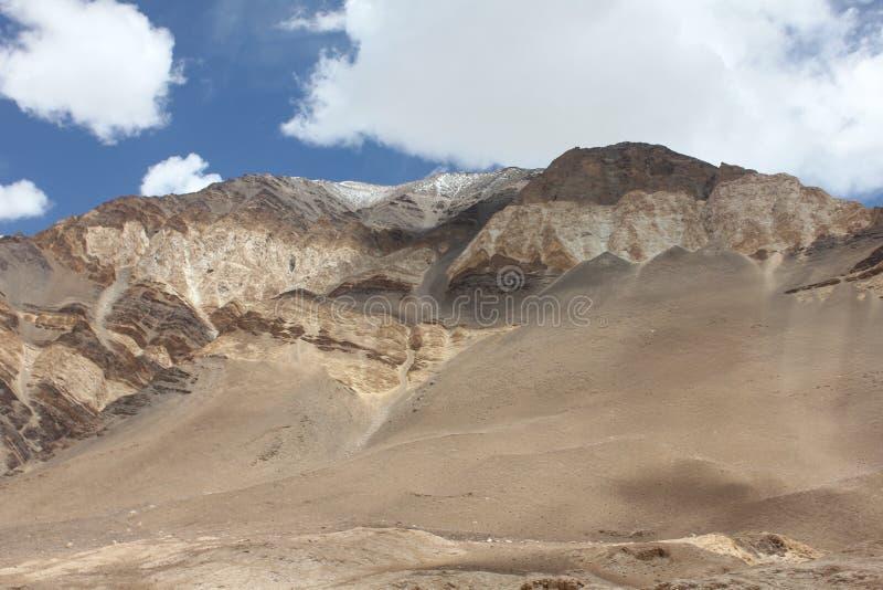 Pangong Lah ladhak Himalaya mountains, India. Pan gong lake  Leah ladhak Himalaya mountains, India, with beautiful cloudy sky, and desert stock photos