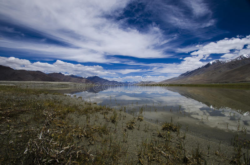 Pangong lake, Jammu & Kashmir, India stock photos