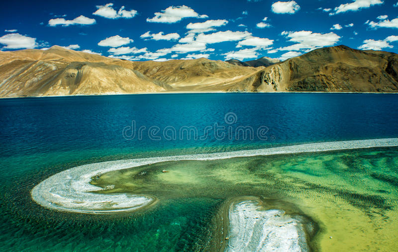 Pangong See, Ladakh, Indien stockfotografie