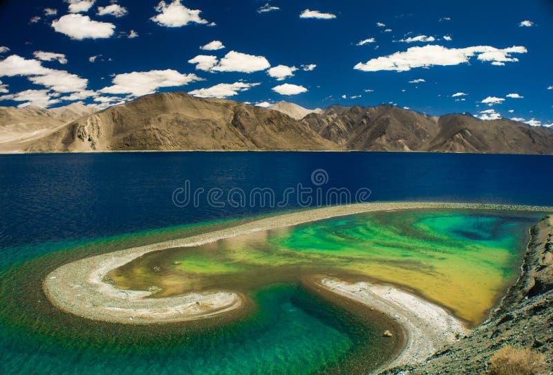 Pangong See, Ladakh, Indien stockfoto