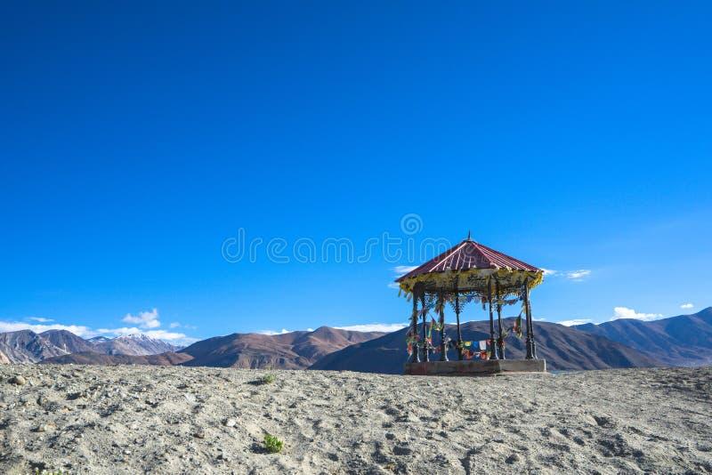 Pangong sjösikt på moringen, Ladakh, Indien royaltyfri fotografi