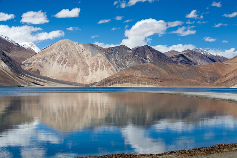Pangongmeer, Ladakh, India stock fotografie