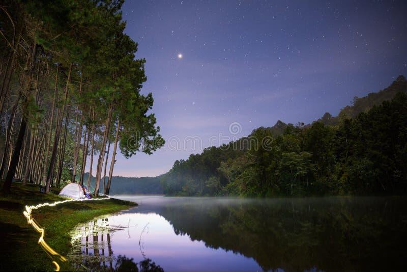 Pangung,夜丰颂,泰国 库存图片