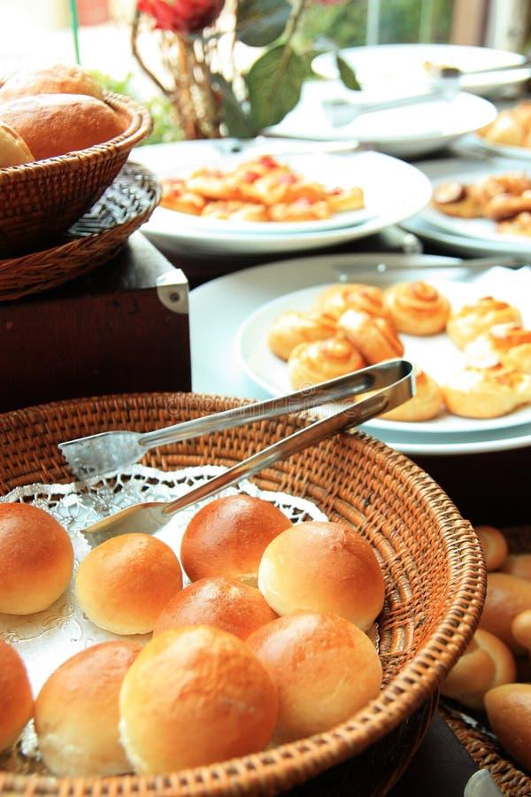Pani a buffet immagini stock