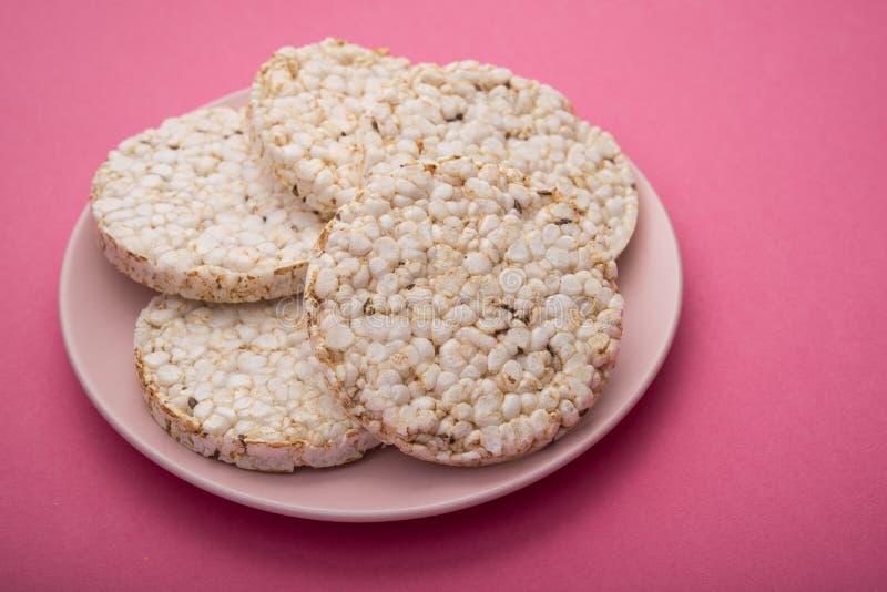 Pani croccanti o cracker di aumento di dieta immagine stock