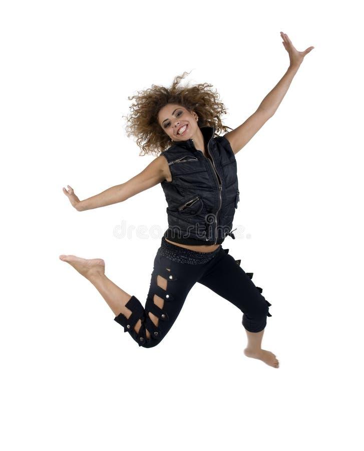 pani cudowna jumping obraz royalty free