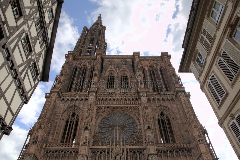 pani katedralna nasze Strasbourg france obraz royalty free