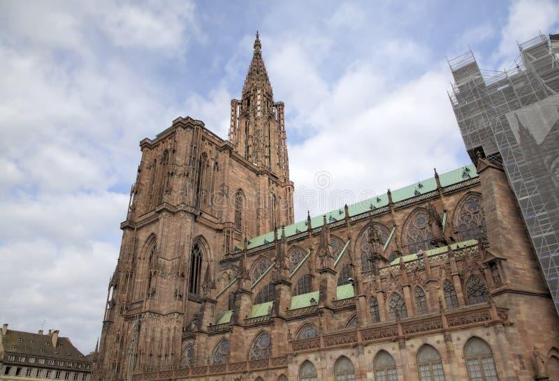pani katedralna nasze Strasbourg france obraz stock