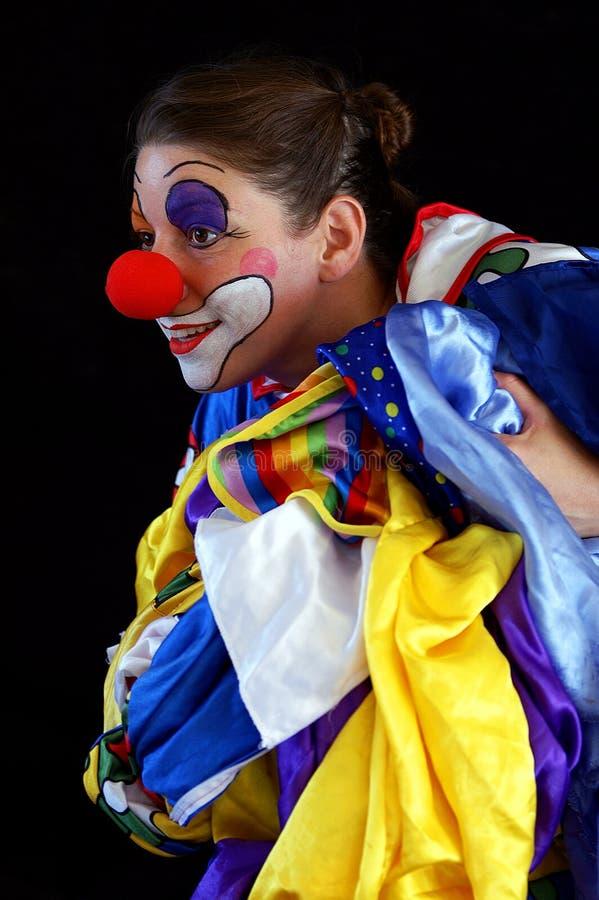 pani ostrej klaun obraz royalty free