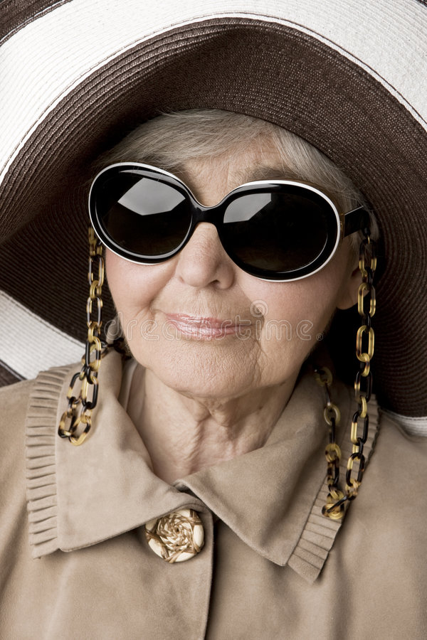 pani portret senior zdjęcie stock