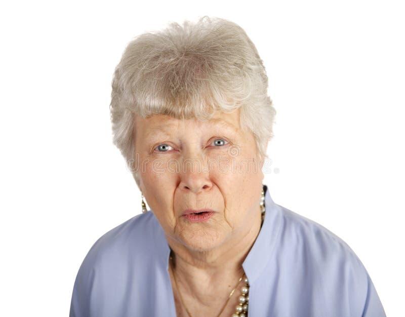 pani senior smutny zdjęcia stock