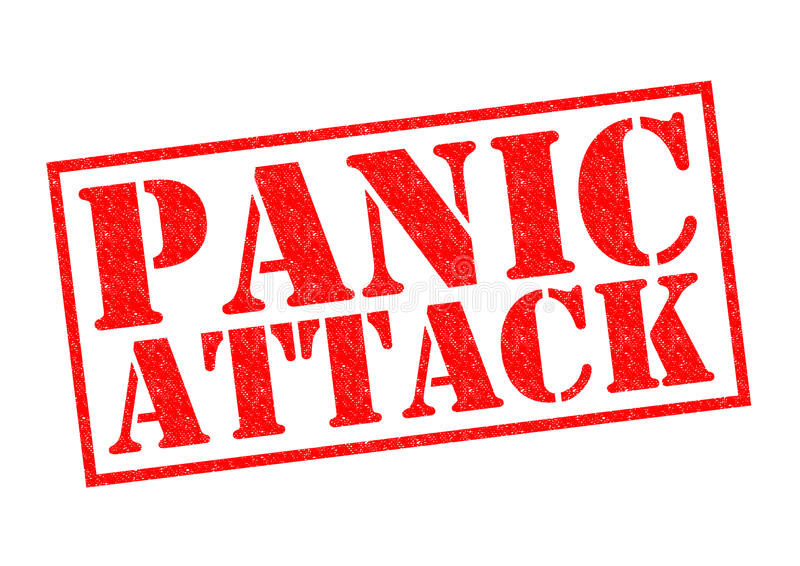 PANIC ATTACK. Red Rubber Stamp over a white background vector illustration