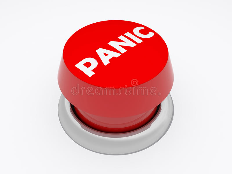 Download Panic button stock illustration. Image of hysteria, emergency - 14153609