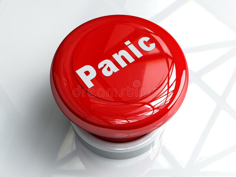 Panic Button vector illustration