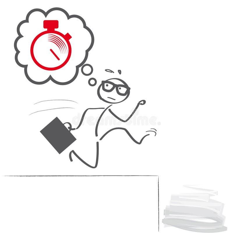 Panic deadlines illustration royalty free illustration