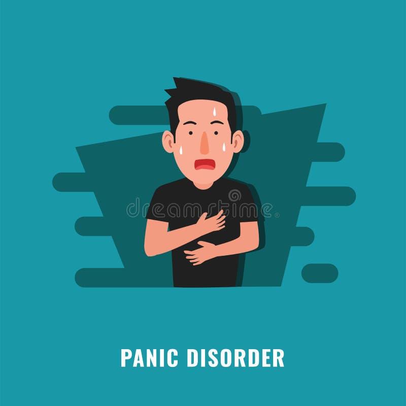 Panic disorder. Psychological disorder. Mental health illustration royalty free illustration