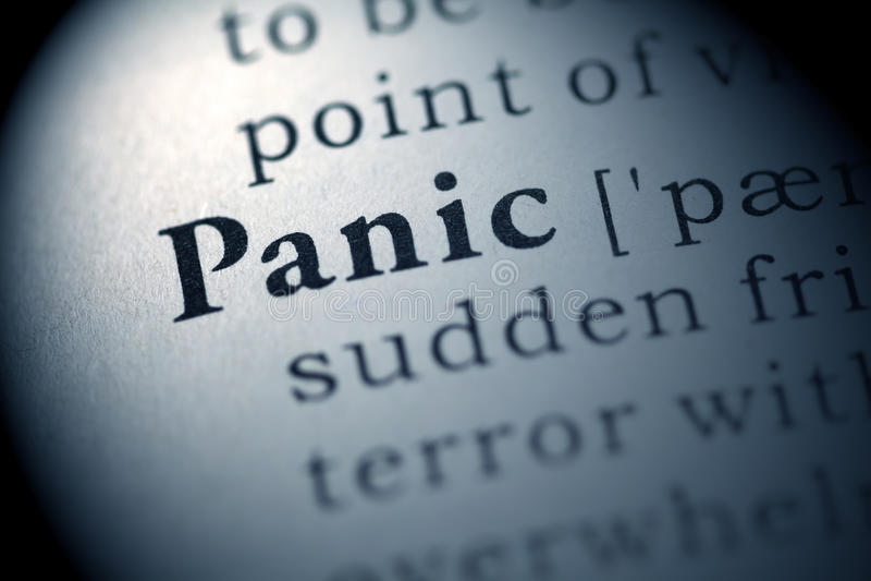 Panic stock images
