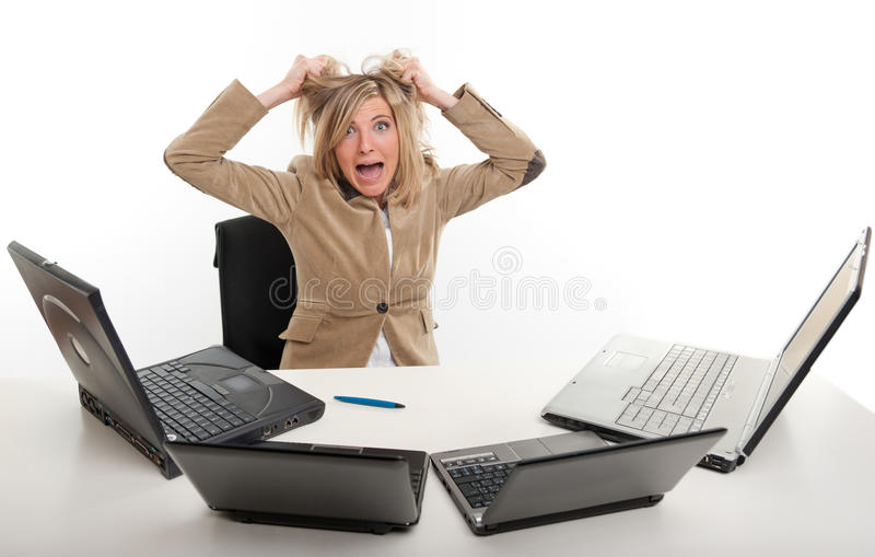 Panic at the office stock image