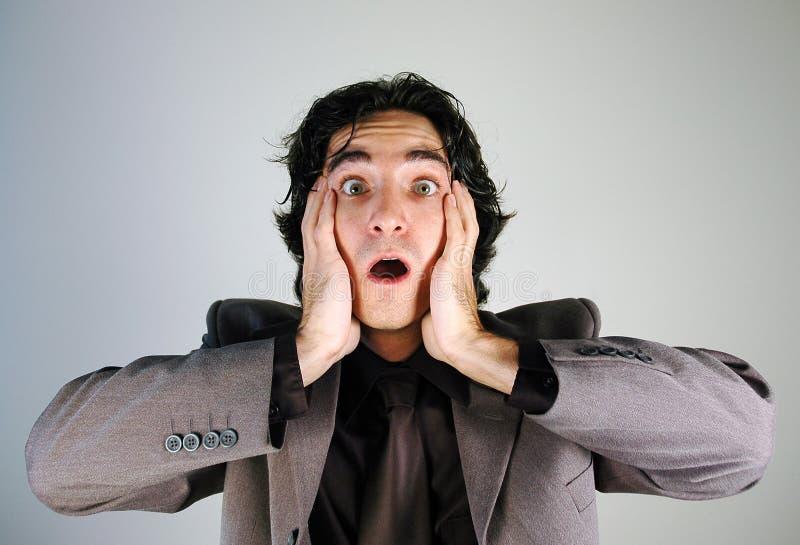 Paniced Geschäftsmann lizenzfreies stockfoto