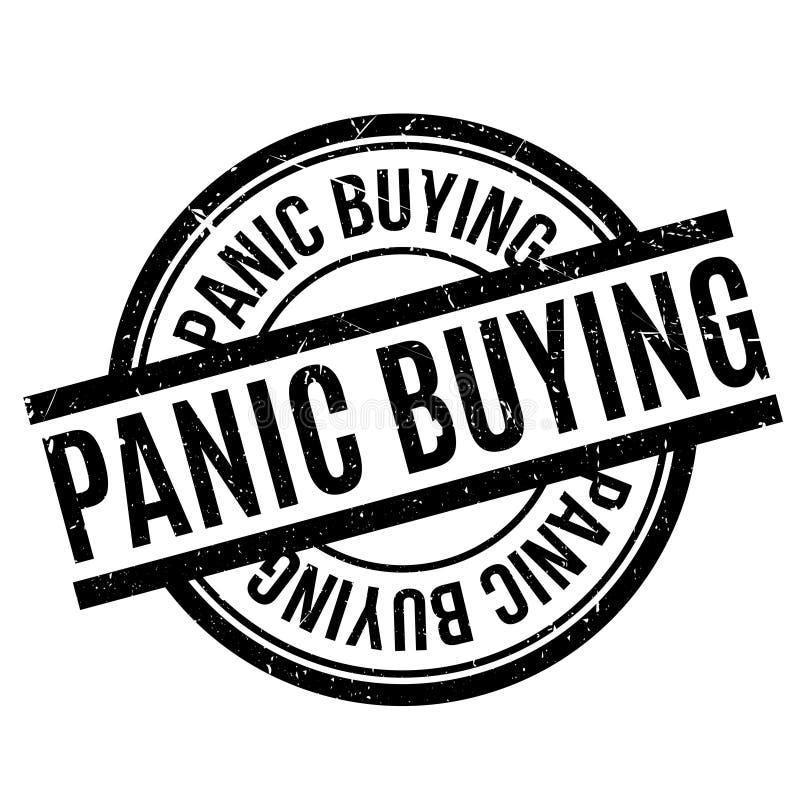 Paniczni Zakupy pieczątka ilustracji