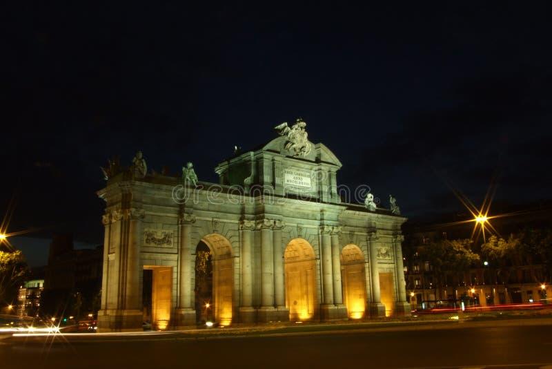 panie alcala de Madryt puerta obrazy royalty free