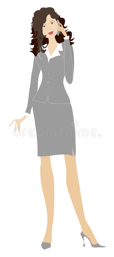 panie biznesowe dzwoni royalty ilustracja
