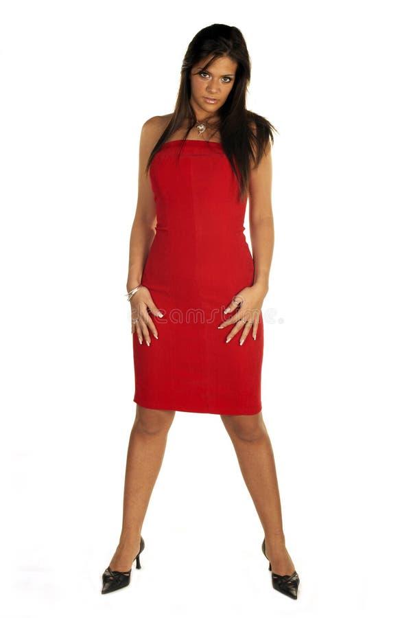 panie czerwony seksowna obraz stock