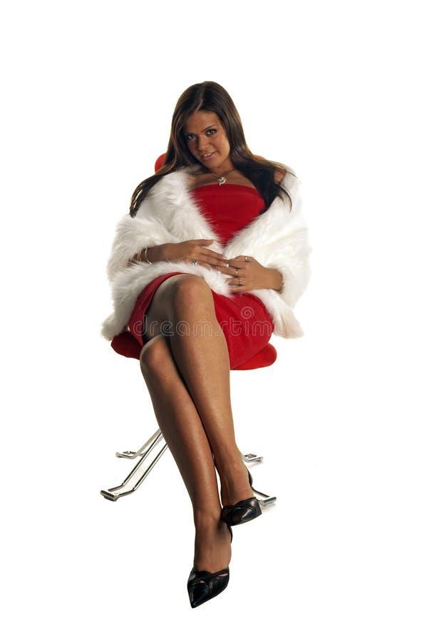 panie czerwony seksowna krzesło obrazy royalty free
