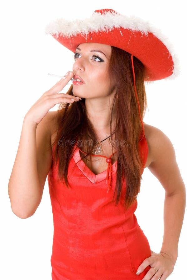 panie papierosowa czerwone. obrazy royalty free