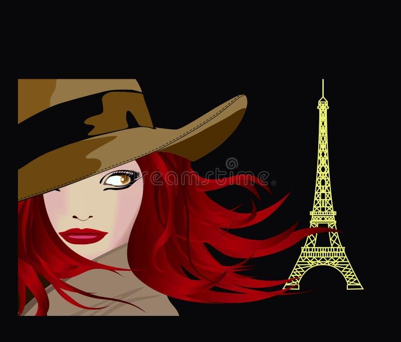 panie Paris young ilustracji
