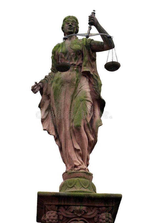 panie posąg sprawiedliwości obraz stock