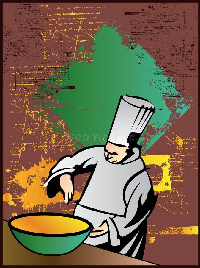 panie szefa kuchni royalty ilustracja