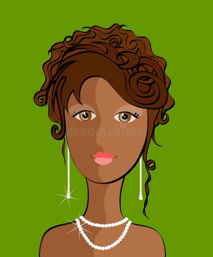 panie young fryzurę royalty ilustracja