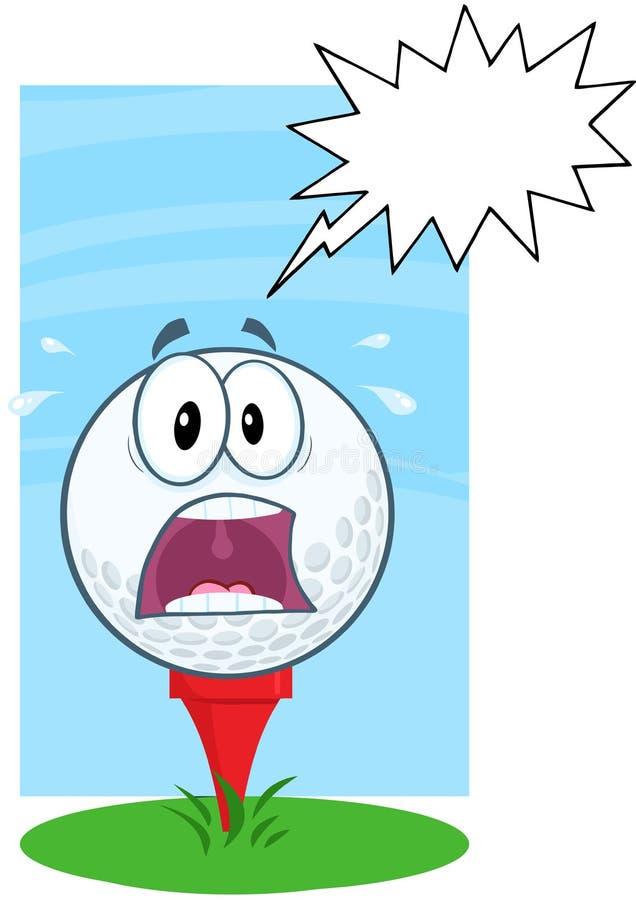 Paniekgolfbal over T-stuk met Toespraakbel vector illustratie