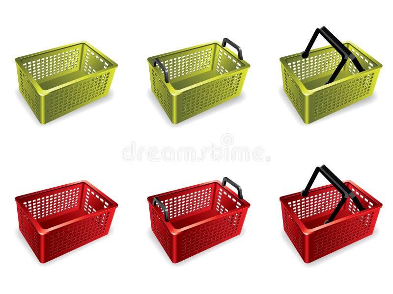 panier à provisions 3D illustration stock