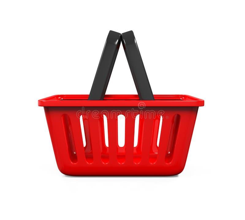 Panier à provisions rouge illustration libre de droits