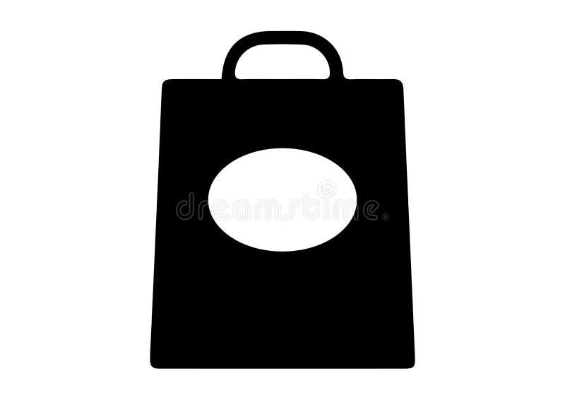 Panier avec des icônes d'ellipse illustration de vecteur