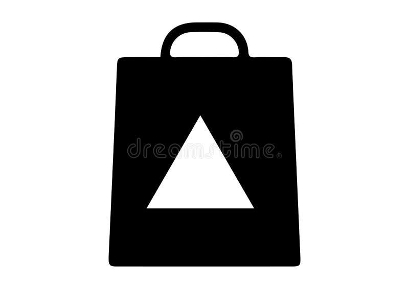 Panier avec des icônes de triangle illustration libre de droits